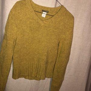 B4GO 🤑 VINTAGE J.CREW 100% wool mustard sweater